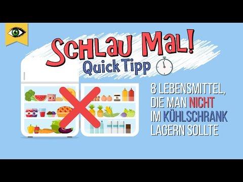 , title : '8 Lebensmittel die man nicht im Kühlschrank lagern sollte - Lebensmittel richtig lagern Schlaumal