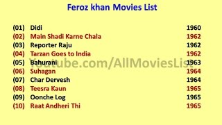 Feroz Khan Movies List