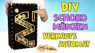 Wie man einen Schokomünzen-Automaten aus Karton herstellt