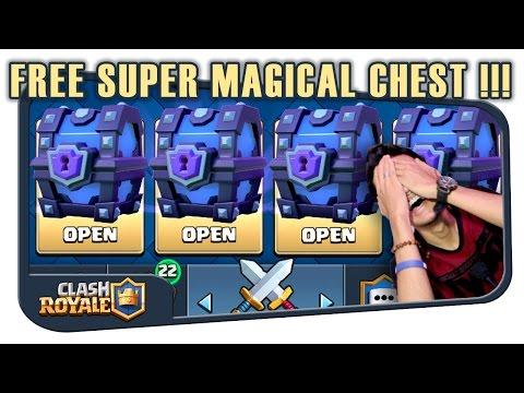 Video BUKA SUPER MAGICAL CHEST PART 1 - CLASH ROYALE INDONESIA
