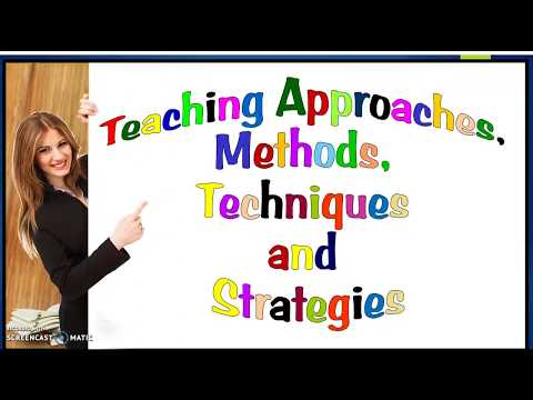 Teaching Approaches, Methods, Techniques and Strategies