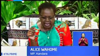 MP Alice Wahome claims that Uhuru Kenyatta seeks to cling on to power