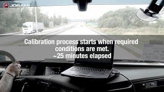 Driving (dynamic) calibration of forward looking sensor, FLS