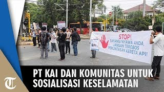 Sosialiasi Keselamatan di Pelintasan Sebidang di Stasiun Kemayoran, PT KAI Gandeng Komunitas Pecinta