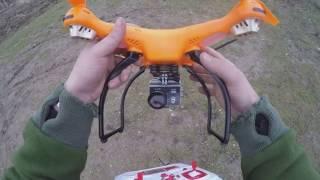 Квадрокоптер syma x8hc и камера EKEN H9R