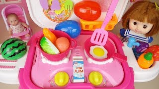 Baby doll kitchen and cooking food toys baby Doli play