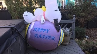 Rare gemmy 6ft Snoopy on Easter egg inflatable review