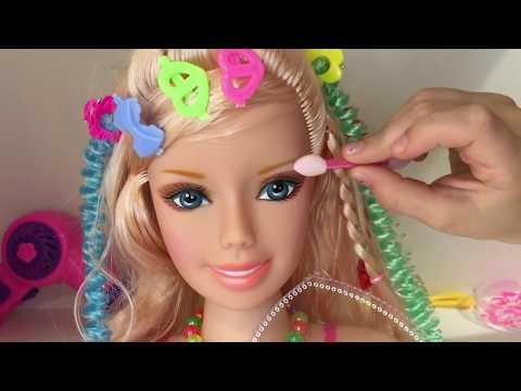 Играем в прически и макияж, игрушка-манекен