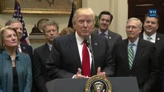 President Trump Signs H.J. Res. 38