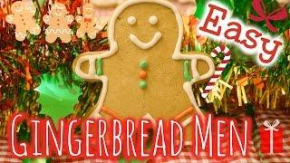 EASY Gingerbread Men Cookies ⎜簡單薑餅人