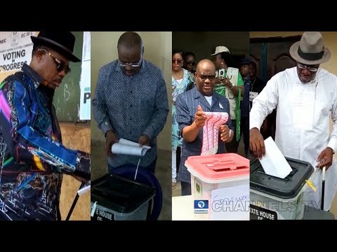 Election: Governors, Candidates Cast Their Votes Across The Country
