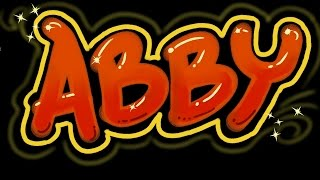 Abby Graffiti Letters - Speed Version - Get your Name!