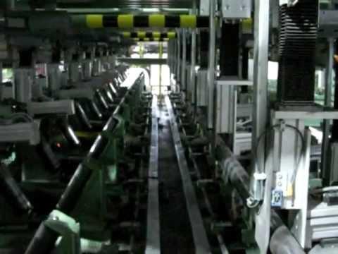 KÄPPNER Stapelanlage für Stahlstäbe (Taktzeit: 7 Sekunden)