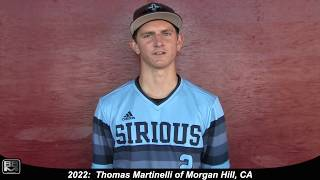 2022 Thomas Martinelli Athletic Outfielder and Third Base Baseball Skills Video