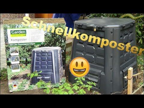 Komposter vom Aldi im test, der Aufbau 💪🌞