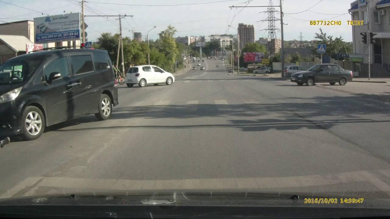 Водитель Хонды выехал на красный свет и сбил пешехода г. Ростов на Дону