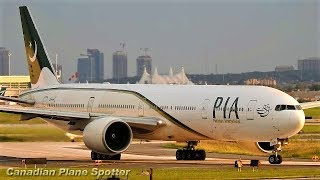 Pakistan 777-300 in Action at Toronto Pearson Int'l Airport