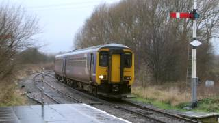 preview picture of video 'Half an Hour at (4) - Helsby Station 29.1.2014 Class 156 158 175'