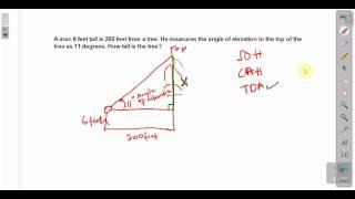 CXC CSEC Maths- Angle Of Elevation ACT Math, SAT Math,