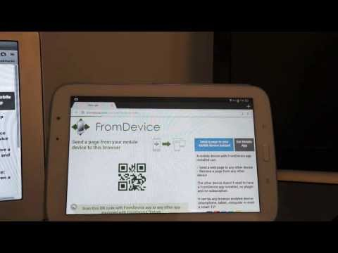 Video of FromDevice Integrated browsing