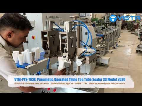 Tube Sealing Machine- Pneumatic- Double Side Batch Coding