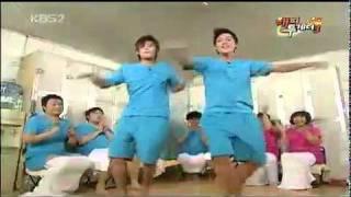 [26.11.09] Hyun Joong & Kyu Jong danced love like this @ Happy Together.avi