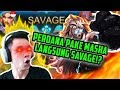GAME KE 1 PAKE MASHA LANGSUNG SAVAGE NYAWANYA 3 BOSS Mobile Legends