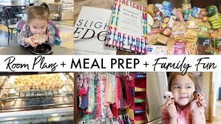 Celia's Room Plans + Meal Prep + Family Fun | NEW YEAR WORKING MOM WEEKLY PREP