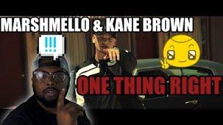 Marshmello & Kane Brown   One Thing Right | Reaction Video