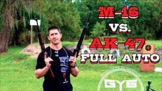 AK47 Vs M16AR15  Full Auto CQB