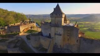 Château de Castelnaud, vue du ciel