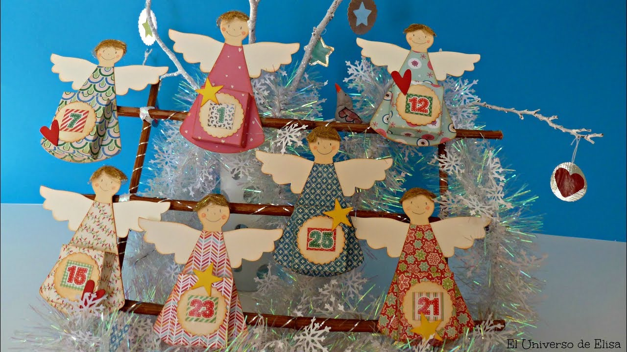 Cómo hacer un Calendario de Adviento, How to make an Advent Calendar, Manualidades con Ángeles