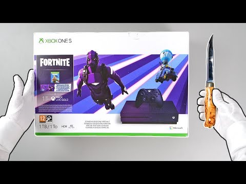 """XBOX ONE """"FORTNITE"""" SPECIAL EDITION! (Dark Vertex skin) Unboxing Battle Royale Console Outfit Bundle"""