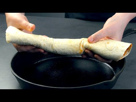 Fill 8 Tortillas & Roll Them Up Like This For The Best Enchiladas Ever!