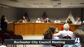 Rochester City Council - 09-25-18