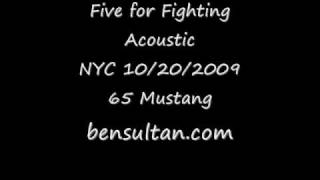 John Ondrasik (Five for Fighting) - 65 Mustang LIVE at the City Winery in NYC