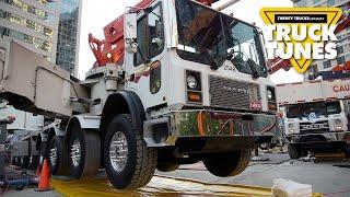 Concrete Boom Pump for Children   Truck Tunes for Kids   Twenty Trucks Channel