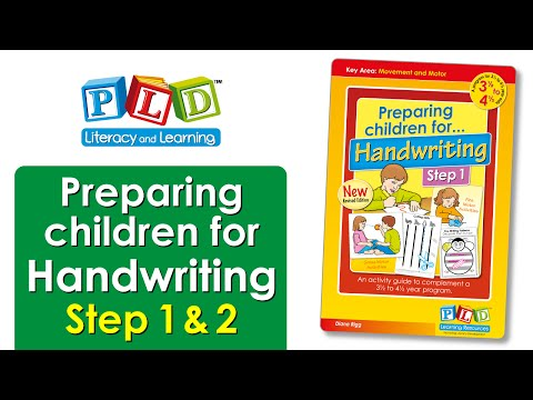 Preparing children for handwriting step 2
