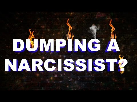 How does a narcissist react to being dumped?