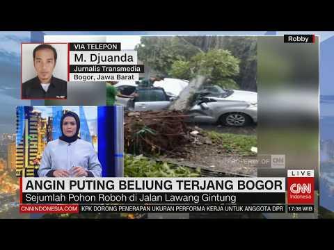 Angin Puting Beliung Terjang Bogor