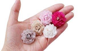 Make Easy Small Fabric Roses - Mini Fabric Flowers