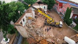 Демонтаж здания старого заводоуправления [Timelapse], май 2018