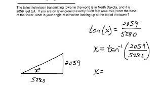 Geometry: SOHCAHTOA Word Problems