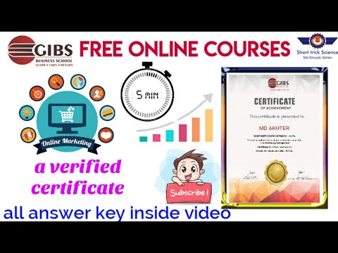 Free Digit Marketing Management Certificate | Answer key digital ...
