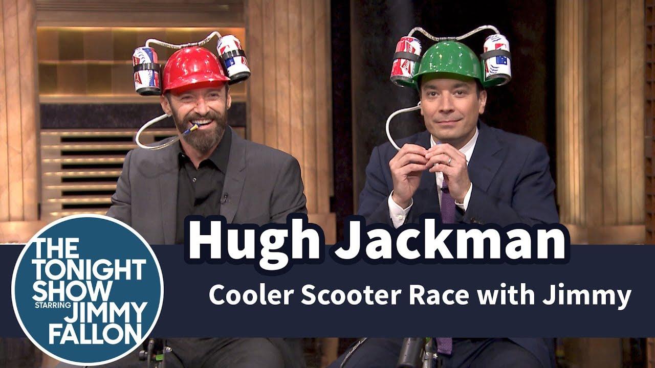 Cooler Scooter Race with Hugh Jackman thumbnail