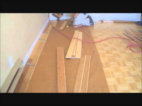 Installing Hardwood Floors over Existing Hardwood Floors DIY Mryoucandoityourself