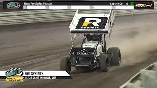 Knoxville Raceway - Pace Pro Sprints Highlights - July 24, 2021