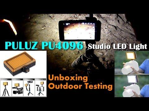 PULUZ PU4096 96-LEDs Studio Light - Unboxing and Testing