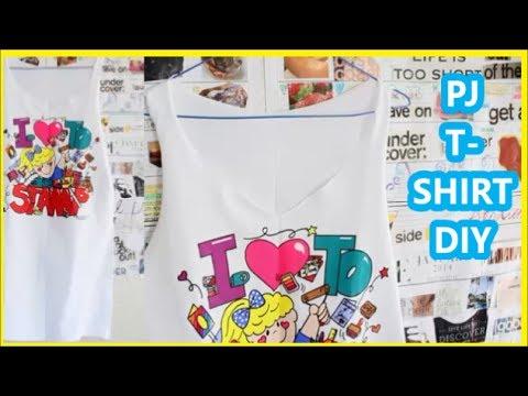 DIY: T-Shirt into PJ Nighty/ Sleep Shirt