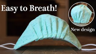 New Design - Breathable Face Mask Tutorial|It Doesnt Touch Mouth And Nose @DIY Trefa